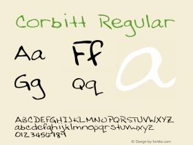 Corbitt Regular Altsys Metamorphosis:3/2/95 Font Sample