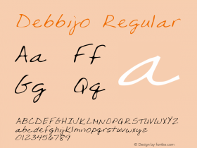 Debbijo Regular Altsys Metamorphosis:4/25/95 Font Sample