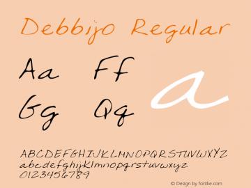 Debbijo Regular Altsys Metamorphosis:4/25/95 Font Sample
