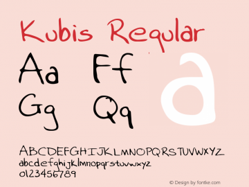 Kubis Regular Altsys Metamorphosis:3/15/95 Font Sample