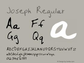 Joseph Regular Altsys Metamorphosis:3/3/95 Font Sample