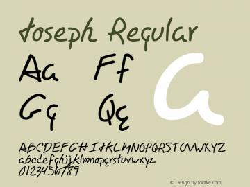 Joseph Regular Macromedia Fontographer 4.1 7/16/98 Font Sample
