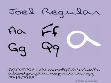 Joel Regular Altsys Metamorphosis:4/18/95 Font Sample