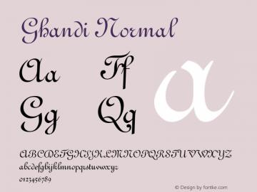 Ghandi Normal Altsys Fontographer 4.1 1/5/95 Font Sample