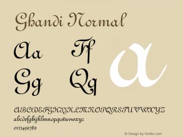 Ghandi Normal Altsys Fontographer 4.1 5/8/96 Font Sample