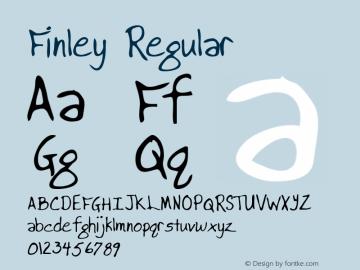 Finley Regular Altsys Metamorphosis:3/2/95 Font Sample