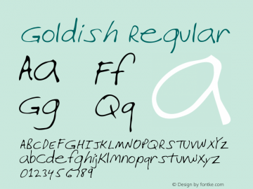 Goldish Regular Altsys Metamorphosis:3/15/95 Font Sample