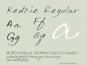 Kedzie Regular Altsys Metamorphosis:3/3/95 Font Sample