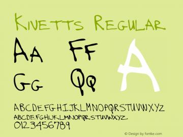 Kivetts Regular Altsys Metamorphosis:3/2/95 Font Sample