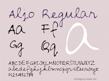 Aljo Regular Altsys Metamorphosis:3/2/95 Font Sample