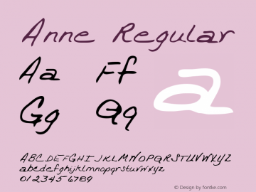 Anne Regular Altsys Metamorphosis:3/21/95 Font Sample