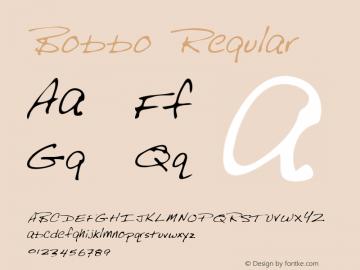 Bobbo Regular Altsys Metamorphosis:12/12/94 Font Sample