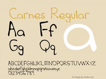 Carnes Regular Altsys Metamorphosis:3/6/95 Font Sample