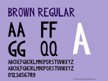 Brown Regular Version 1.000 Font Sample