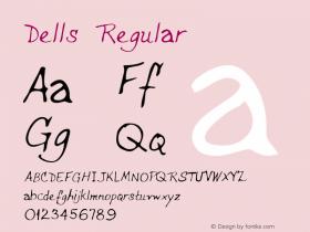 Dells Regular Altsys Metamorphosis:2/24/95 Font Sample
