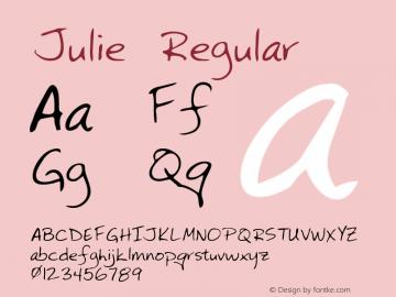 Julie Regular Altsys Metamorphosis:2/24/95 Font Sample