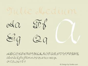 Julie Medium Version 001.000 Font Sample