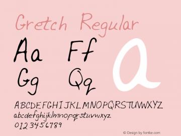 Gretch Regular Altsys Metamorphosis:3/2/95 Font Sample