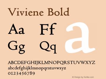 Viviene Bold Altsys Fontographer 4.1 12/22/94 Font Sample