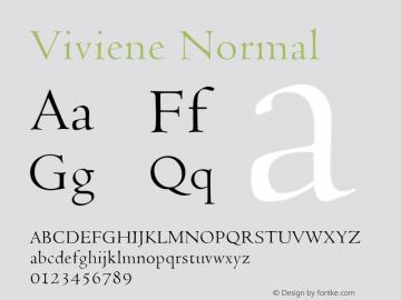 Viviene Normal Altsys Fontographer 4.1 12/22/94 Font Sample