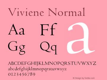 Viviene Normal Altsys Fontographer 4.1 6/10/96 Font Sample