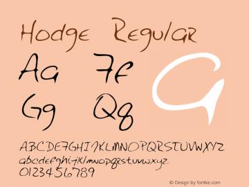 Hodge Regular Altsys Metamorphosis:3/3/95 Font Sample