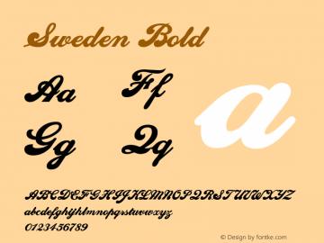 Sweden Bold Altsys Fontographer 4.1 1/10/95 Font Sample