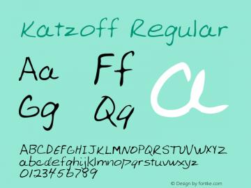 Katzoff Regular Altsys Metamorphosis:2/27/95 Font Sample
