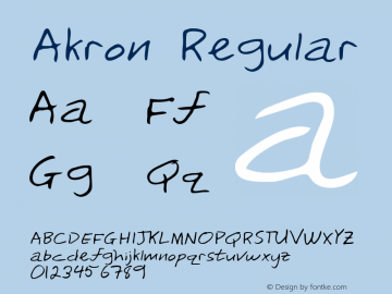 Akron Regular Altsys Metamorphosis:3/3/95 Font Sample