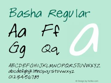 Basha Regular Altsys Metamorphosis:3/15/95 Font Sample