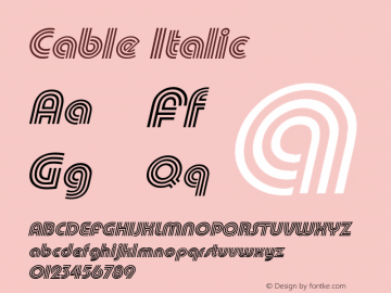 Cable Italic Altsys Fontographer 4.1 12/27/94 Font Sample