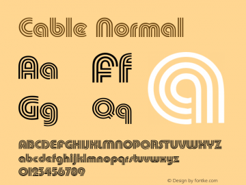 Cable Normal Altsys Fontographer 4.1 11/1/95 Font Sample