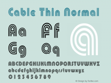 Cable Thin Normal Altsys Fontographer 4.1 1/30/95 Font Sample
