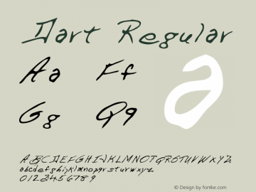 Dart Regular Altsys Metamorphosis:2/27/95 Font Sample