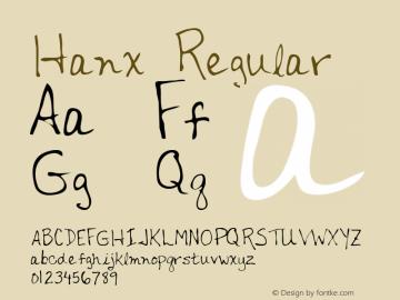 Hanx Regular Altsys Metamorphosis:12/7/94 Font Sample
