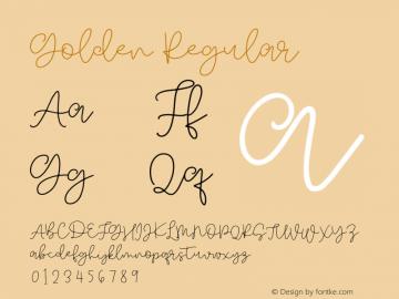 Golden Regular Version 1.000;PS 001.000;hotconv 1.0.88;makeotf.lib2.5.64775图片样张