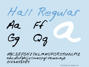 Hall Regular Altsys Metamorphosis:3/2/95 Font Sample