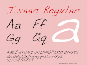 Isaac Regular Altsys Metamorphosis:2/28/95 Font Sample