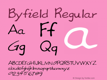 Byfield Regular Altsys Metamorphosis:3/21/95 Font Sample