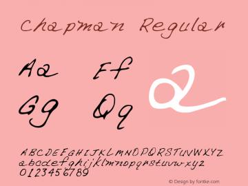 Chapman Regular Altsys Metamorphosis:3/2/95 Font Sample