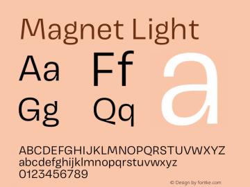 Magnet Light Version 1.001;PS 1.000;hotconv 16.6.51;makeotf.lib2.5.65220 Font Sample