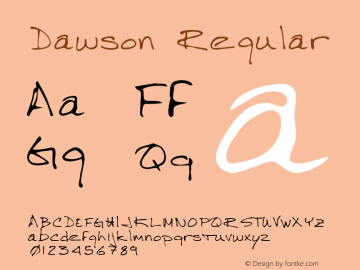 Dawson Regular Altsys Metamorphosis:3/3/95 Font Sample