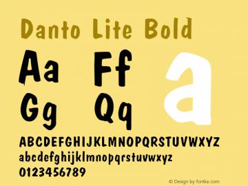 Danto Lite Bold Altsys Fontographer 4.1 1/26/95 Font Sample