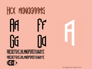 Hex monograms Version 001.000 Font Sample
