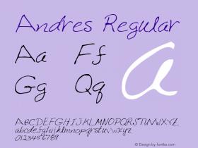 Andres Regular Altsys Metamorphosis:4/25/95 Font Sample