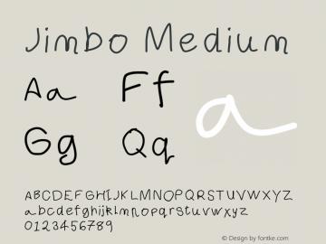 Jimbo Medium Version 001.000 Font Sample