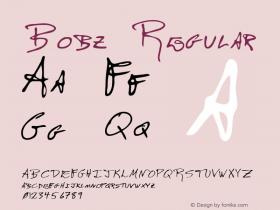Bobz Regular Altsys Metamorphosis:12/7/94 Font Sample
