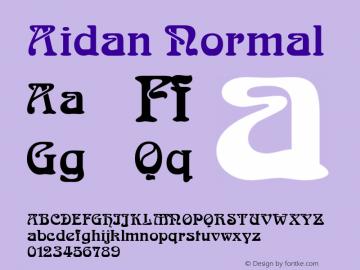 Aidan Normal Altsys Fontographer 4.1 1/11/95 Font Sample