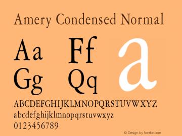 Amery Condensed Normal Altsys Fontographer 4.1 1/30/95 Font Sample