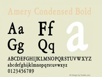 Amery Condensed Bold Altsys Fontographer 4.1 1/30/95 Font Sample